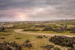 La ciudad de Punta de Choros en el parque nacional del ping?ino de Humboldt fotografía de archivo