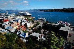 La ciudad de Quebec Canadá Foto de archivo