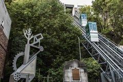 LA CIUDAD DE QUEBEC, CANADÁ 13 09 De la ciudad superior funicular vieja de 217 un sitio más bajo del patrimonio mundial de la UNE Fotografía de archivo