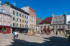 La ciudad de Quebec vieja, Canadá Fotos de archivo