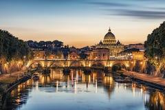 La ciudad de Roma por la tarde fotos de archivo libres de regalías
