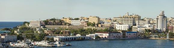 La ciudad de San Juan viejo, Puerto Rico Imagenes de archivo
