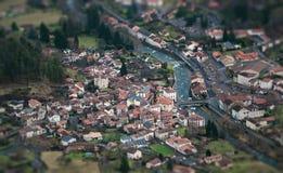 La ciudad de Seix fotografía de archivo libre de regalías