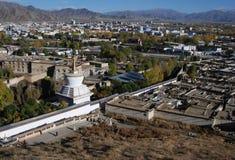 La ciudad de Shigatse Foto de archivo