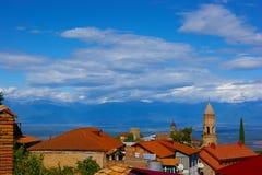 La ciudad de Sighnaghi, Georgia Foto de archivo libre de regalías