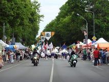 La ciudad de Silute celebra 507 años de día de la existencia, Lituania Imágenes de archivo libres de regalías