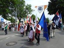 La ciudad de Silute celebra 507 años de día de la existencia, Lituania Fotografía de archivo libre de regalías