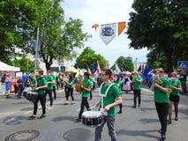 La ciudad de Silute celebra 507 años de día de la existencia, Lituania Imagen de archivo