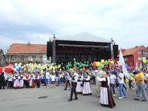 La ciudad de Silute celebra 507 años de día de la existencia, Lituania Foto de archivo