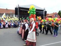 La ciudad de Silute celebra 507 años de día de la existencia, Lituania Imagen de archivo libre de regalías