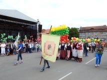 La ciudad de Silute celebra 507 años de día de la existencia, Lituania Fotos de archivo libres de regalías
