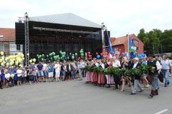 La ciudad de Silute celebra 507 años de día de la existencia, Lituania Fotografía de archivo