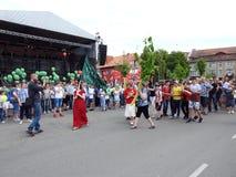 La ciudad de Silute celebra 507 años de día de la existencia, Lituania Imagenes de archivo