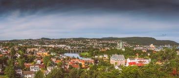 La ciudad de Strondheim Imagen de archivo libre de regalías