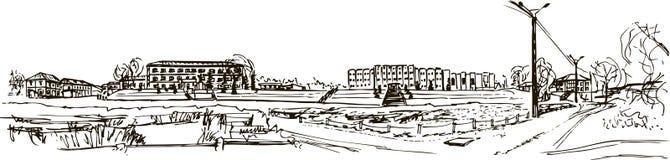 La ciudad de Temnikov imagen de archivo