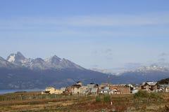 La ciudad de Ushuaia, la Argentina Foto de archivo