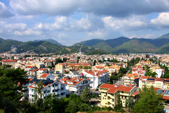 La ciudad de vacaciones popular de Marmaris en Turquía Foto de archivo libre de regalías