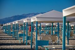 La ciudad de vacaciones de Viareggio imagen de archivo libre de regalías