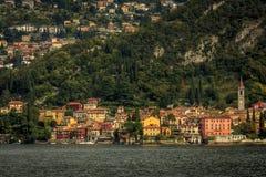 La ciudad de Varenna Foto de archivo