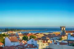 La ciudad de Viana do Castelo, Portugal imagen de archivo libre de regalías