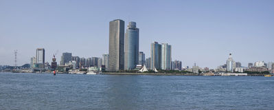 La ciudad de Xiamen, visión desde China del gualangyu Imagen de archivo libre de regalías