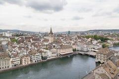 La ciudad de Zurich, Suiza Foto de archivo libre de regalías