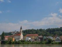 La ciudad del passau en Alemania fotografía de archivo