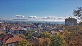 La ciudad desde arriba imagenes de archivo