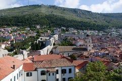 La ciudad emparedada de Dubrovnic en Croacia Europa Dubrovnik se apoda perla del ` del Adriático Imágenes de archivo libres de regalías