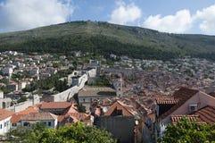La ciudad emparedada de Dubrovnic en Croacia Europa Dubrovnik se apoda perla del ` del Adriático Fotografía de archivo libre de regalías