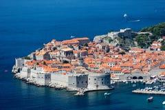 La ciudad emparedada en Dubrovnik, Croacia Foto de archivo libre de regalías