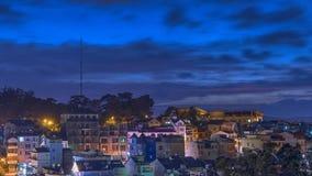La ciudad en la puesta del sol Fotografía de archivo libre de regalías