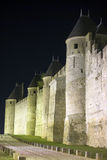 La ciudad fortificada de Carcasona Imágenes de archivo libres de regalías