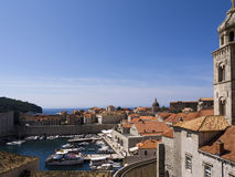 La ciudad fortificada de Dubrovnic Croacia Fotografía de archivo libre de regalías