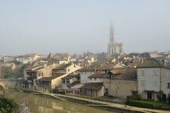 La ciudad francesa antigua Nerac Imagen de archivo libre de regalías