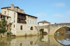 La ciudad francesa antigua Nerac Imágenes de archivo libres de regalías