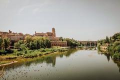 La ciudad histórica de Albi en Francia Fotografía de archivo libre de regalías
