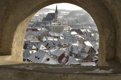 La ciudad histórica de Cesky Krumlov Fotos de archivo libres de regalías