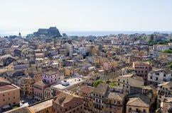 La ciudad histórica de la isla de Corfú, Grecia Fotografía de archivo