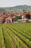 La ciudad italiana de Soave Fotos de archivo