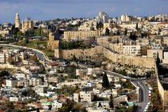 La ciudad Jerusalén del holi Fotografía de archivo