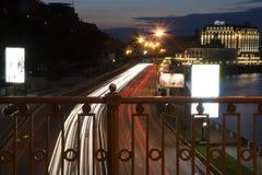 La ciudad Kiev de la noche Imágenes de archivo libres de regalías