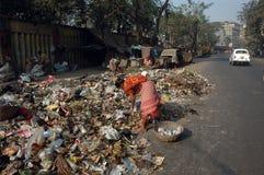 La ciudad más sucia de la India fotografía de archivo