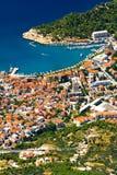 La ciudad Makarska Foto de archivo libre de regalías