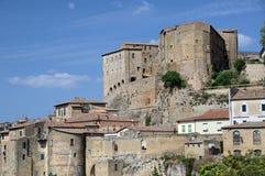 La ciudad medieval Fotos de archivo libres de regalías