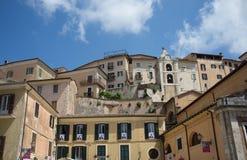 La ciudad medieval de Arpino, Italia Foto de archivo libre de regalías