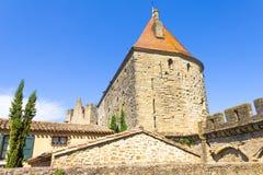 La ciudad medieval de Carcasona Foto de archivo libre de regalías