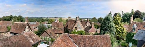 La ciudad medieval de Gerberoy en Francia fotografía de archivo libre de regalías