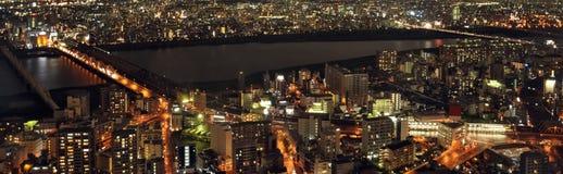 La ciudad moderna de la noche, ¼ ŒJapan de Osakaï Foto de archivo