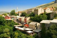 La ciudad Mostar Foto de archivo libre de regalías